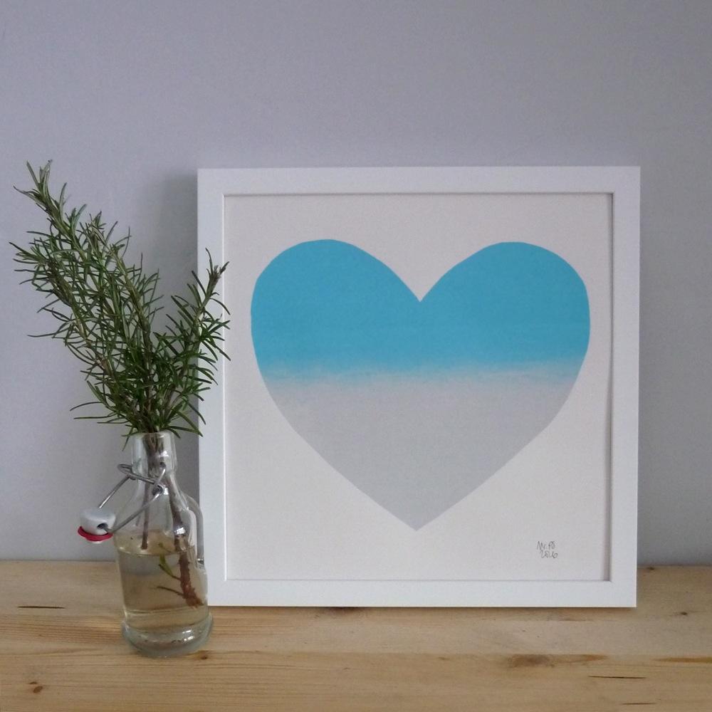 MrPS  Silver Aqua Heart