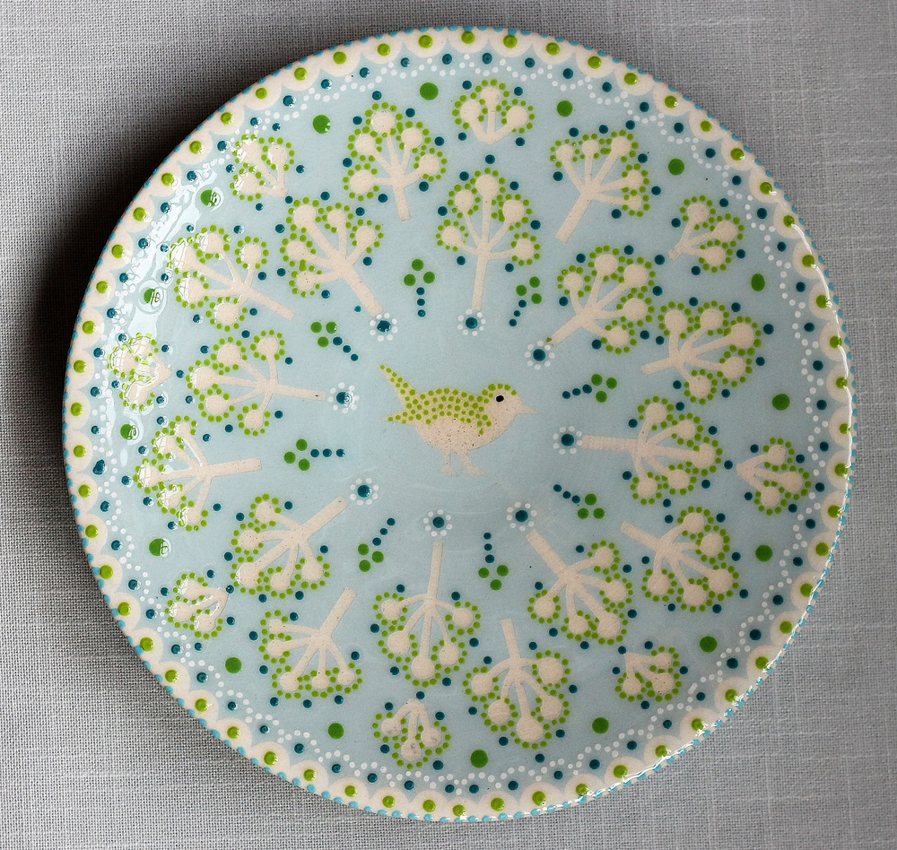Katrin Moye Wren In Garden Platter