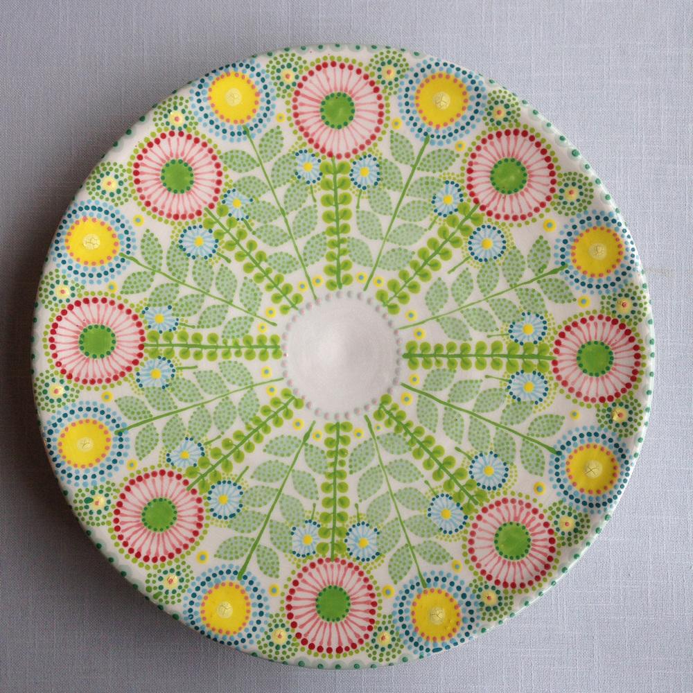 Katrin Moye Multicoloured Daisy Platter