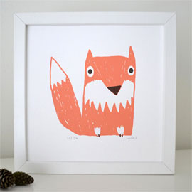 Fox  screenprint  £25