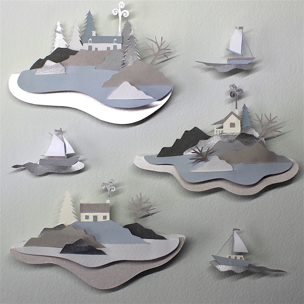 Islands in the Stream   papercut    sold
