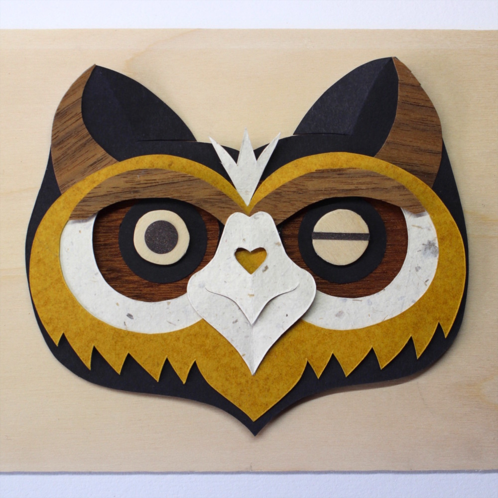 Rauol Owl   papercut   £66  (framed)