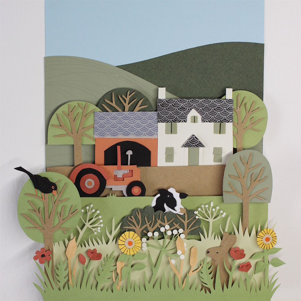 Roberts Farm   papercut   £308  (framed)