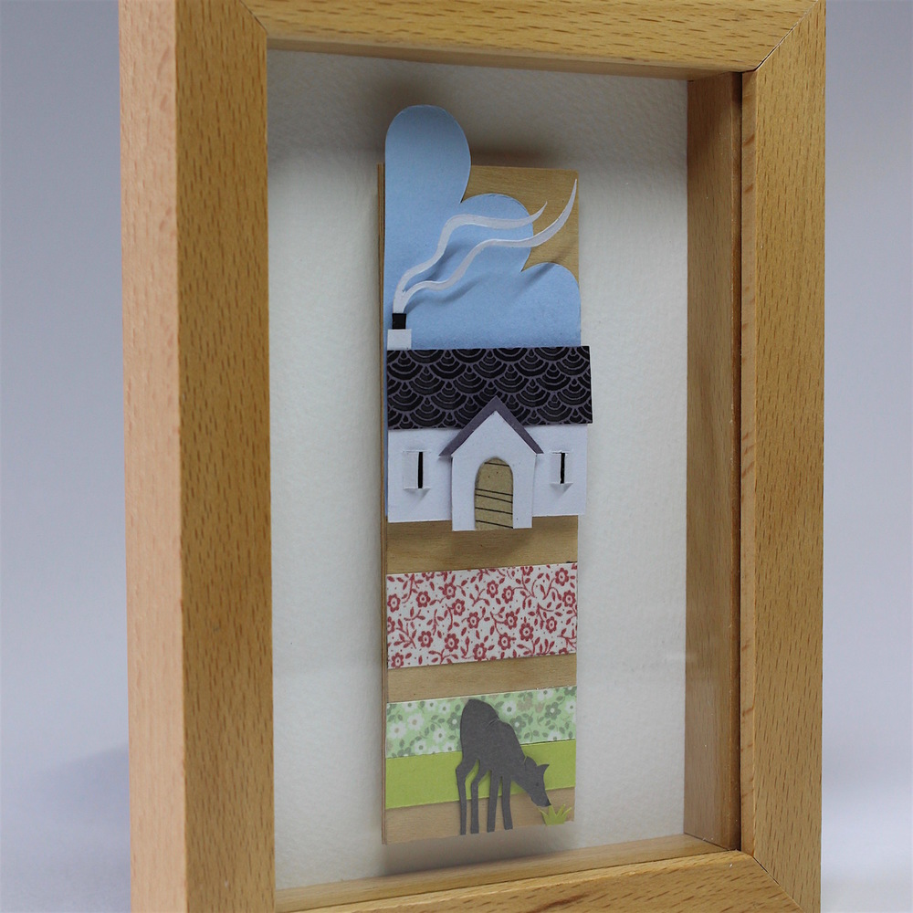 Deer Cottage   papercut    £66   (framed)