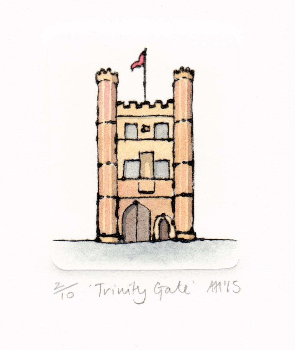 Trinity Gate  drypoint  6 x 7cm   £65 framed