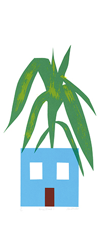 House Plant screen print £70 (unframed)