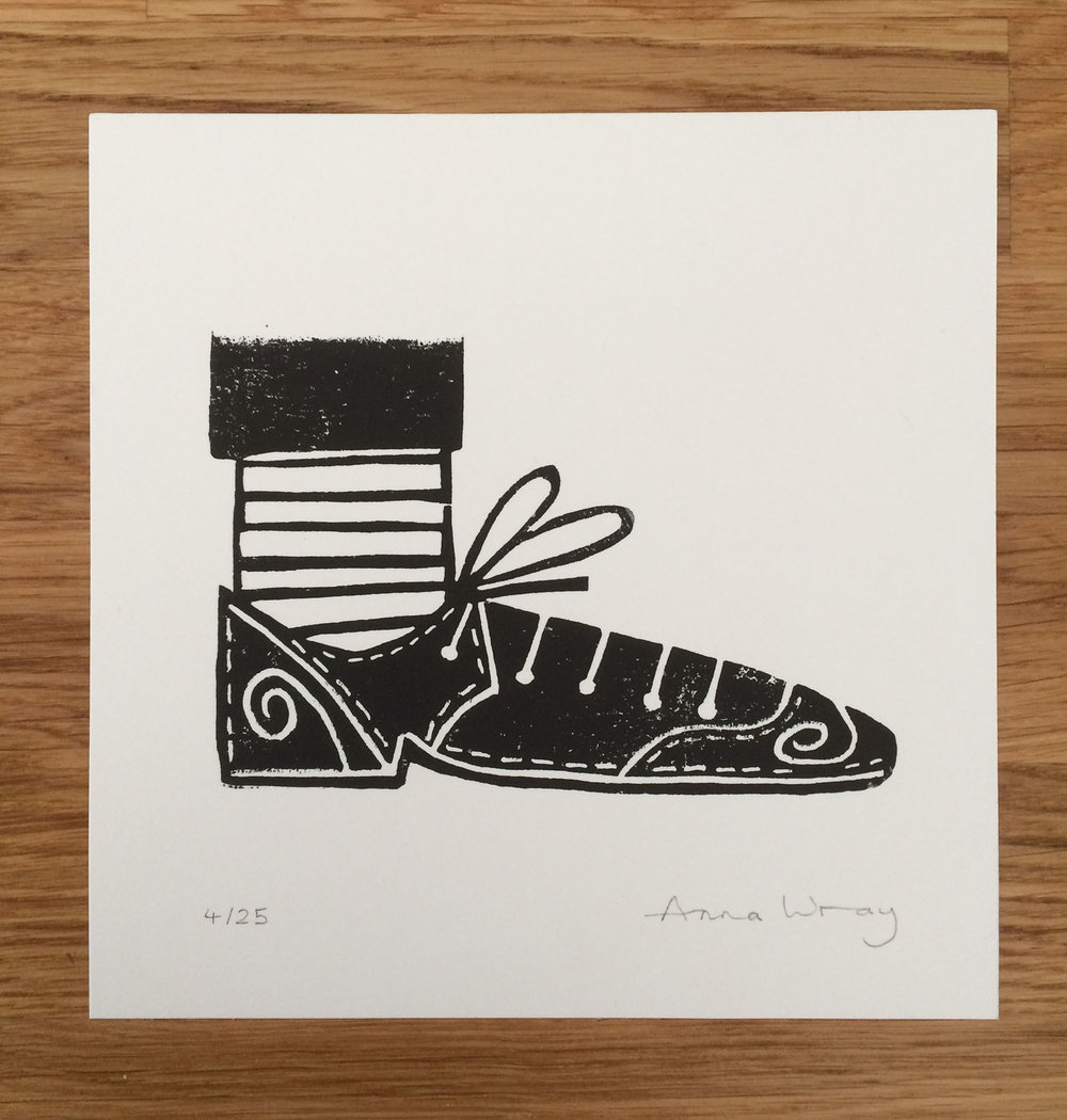 Mini Print Shoe  screenprint  13 x 13 cm  £20 (unframed)