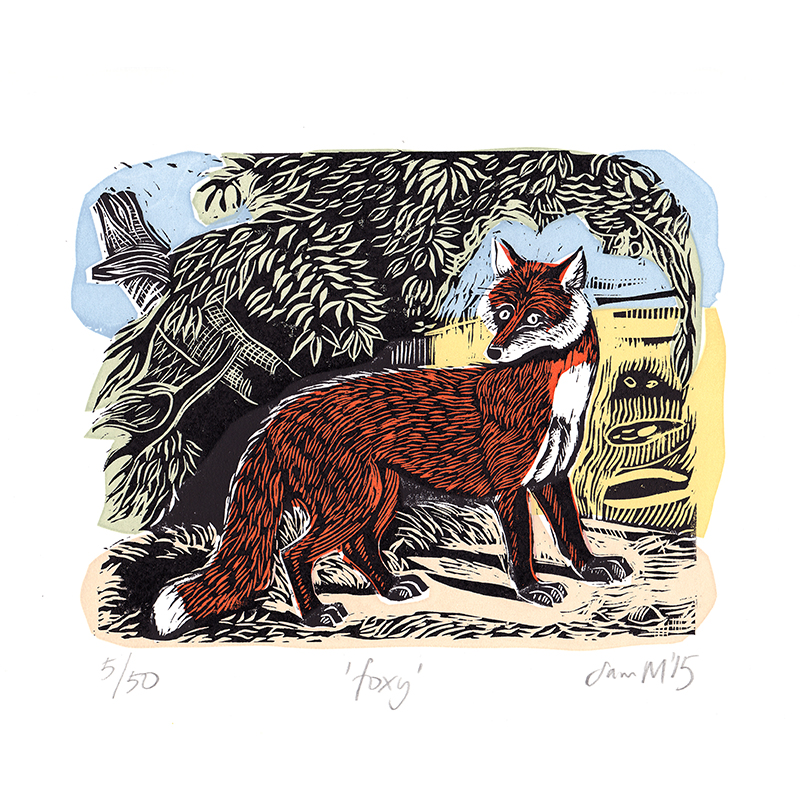 Foxy  Linocut  £75