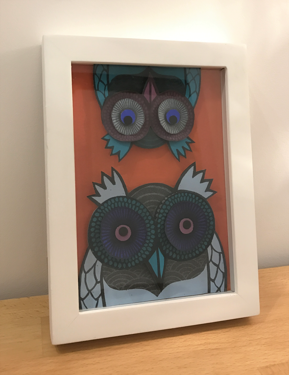 Big Owl, Little Owl paper cut £62