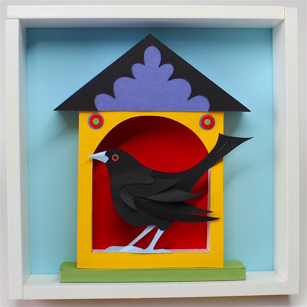 Helen Musselwhite Black Bird House papercut £121