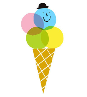 Lucie Sheridan Ice Cream Man screenprint £32