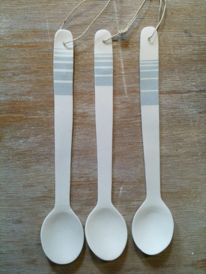 Justine Allison Large Spoons porcelain £18 each