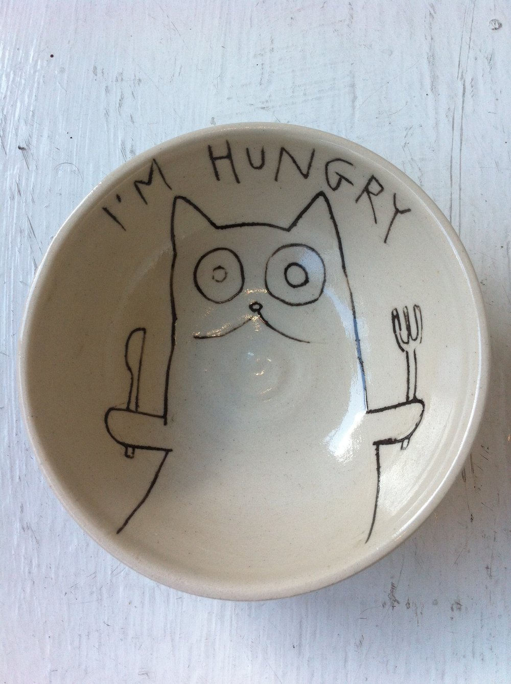 Alice Maplesden I'm Hungry Bowl ceramic £25