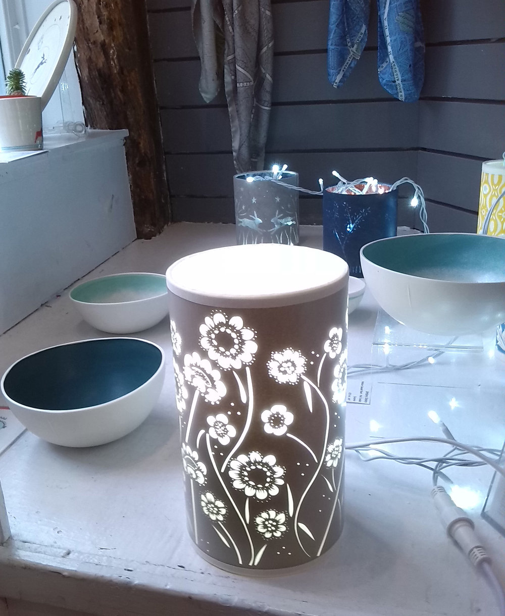 Buttercups Papercut lamp £95