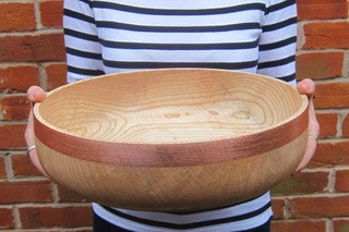 Big Ash Bowl  wood & copper  £125