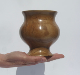 Cherry Vase  wood  sold