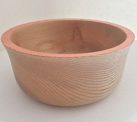 Ash Bowl with Copper Rim  wood & copper  £95
