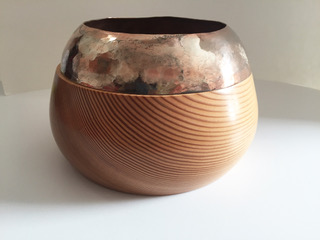 Planter  wood & mixed metals  £85