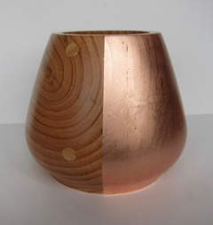 Half Copper Bowl  wood & copper  £50