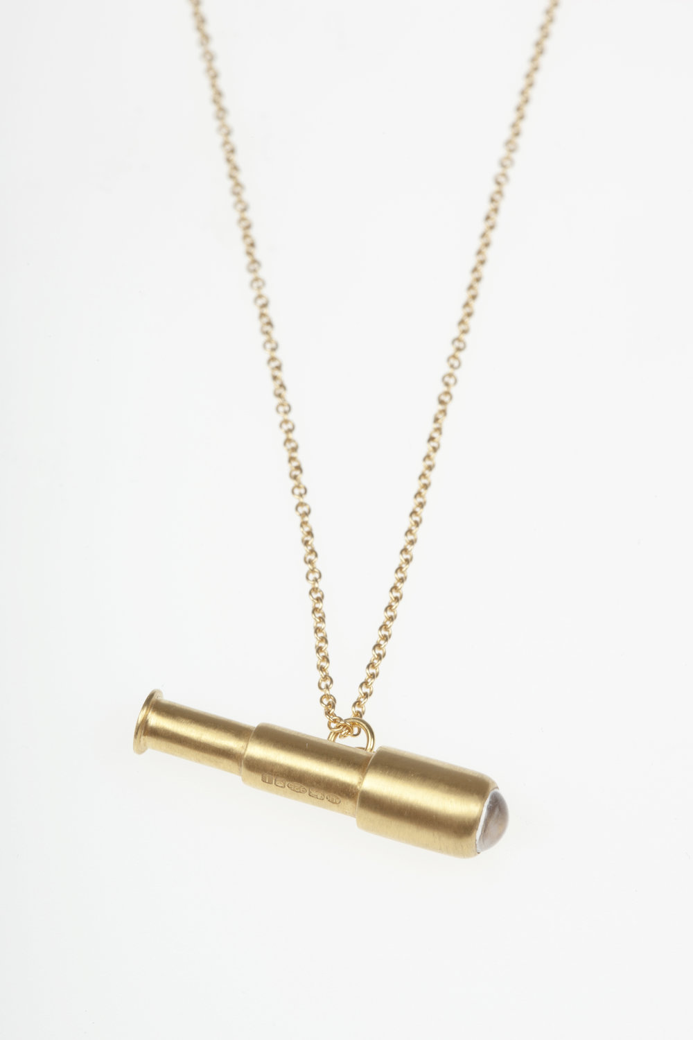 Spyglass Pendant  18ct Gold Vermeil and Black Rhodium Plated Sterling Silver, Rock Crystal  £218