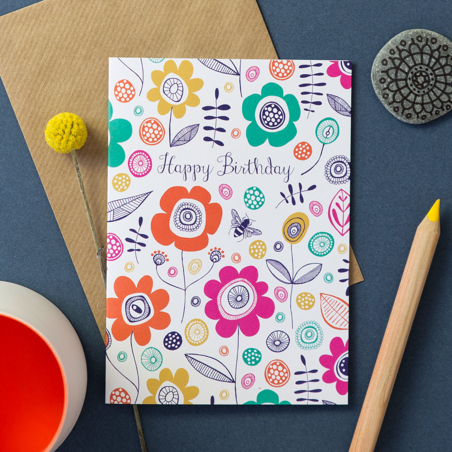 Beyond The Backyard Birthday Card By Jane Farnham Cambridge Contemporary Crafts