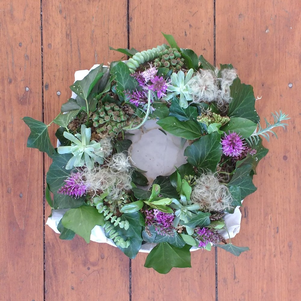Wreath with Succulents £35