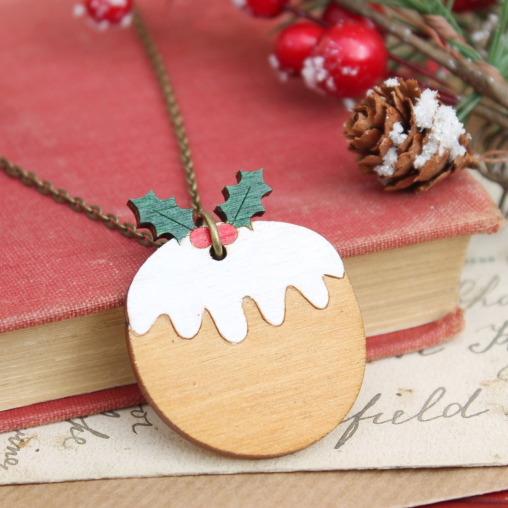Christmas Pudding Necklace  £14