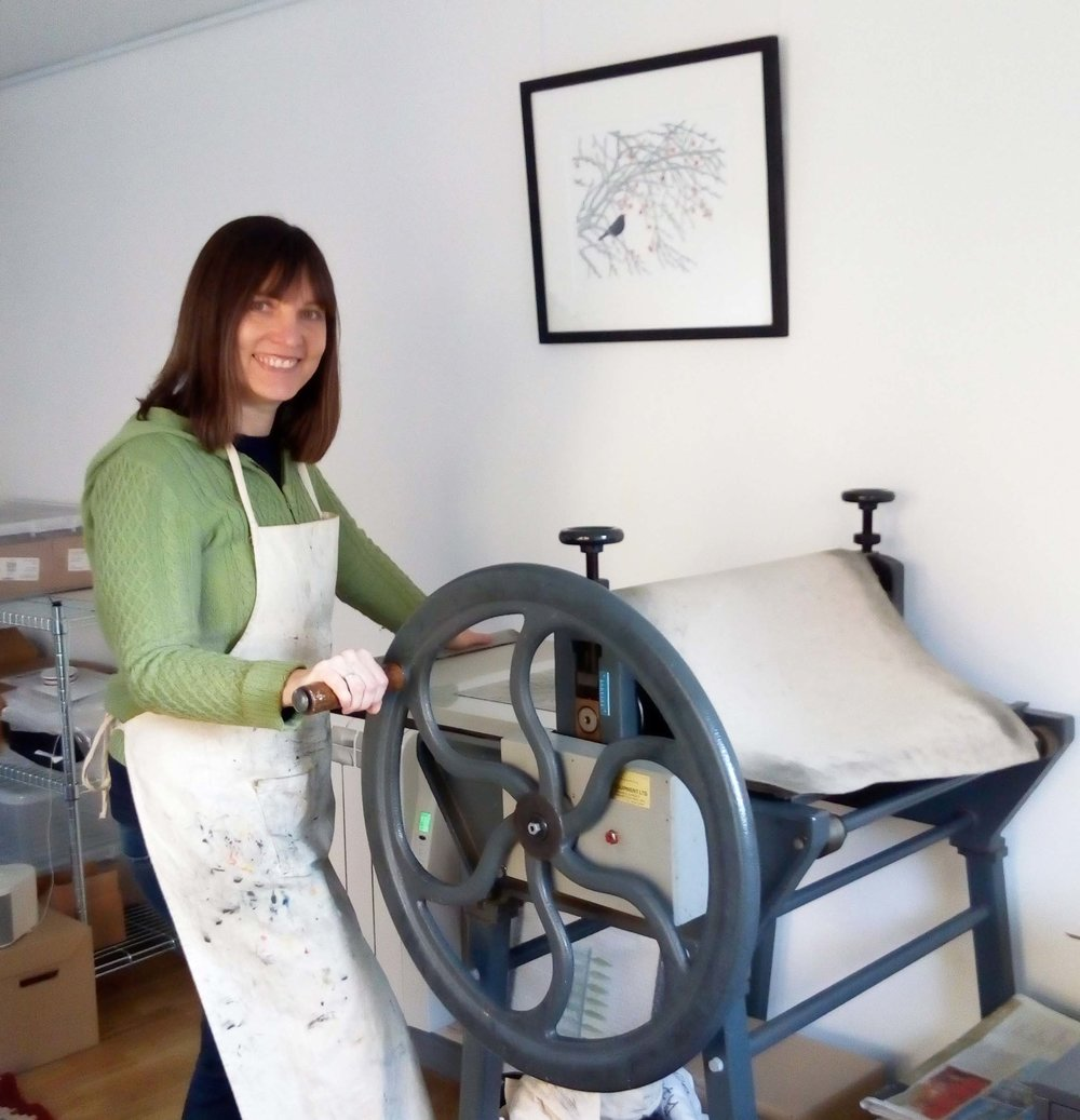 Alison in her studio - 2018