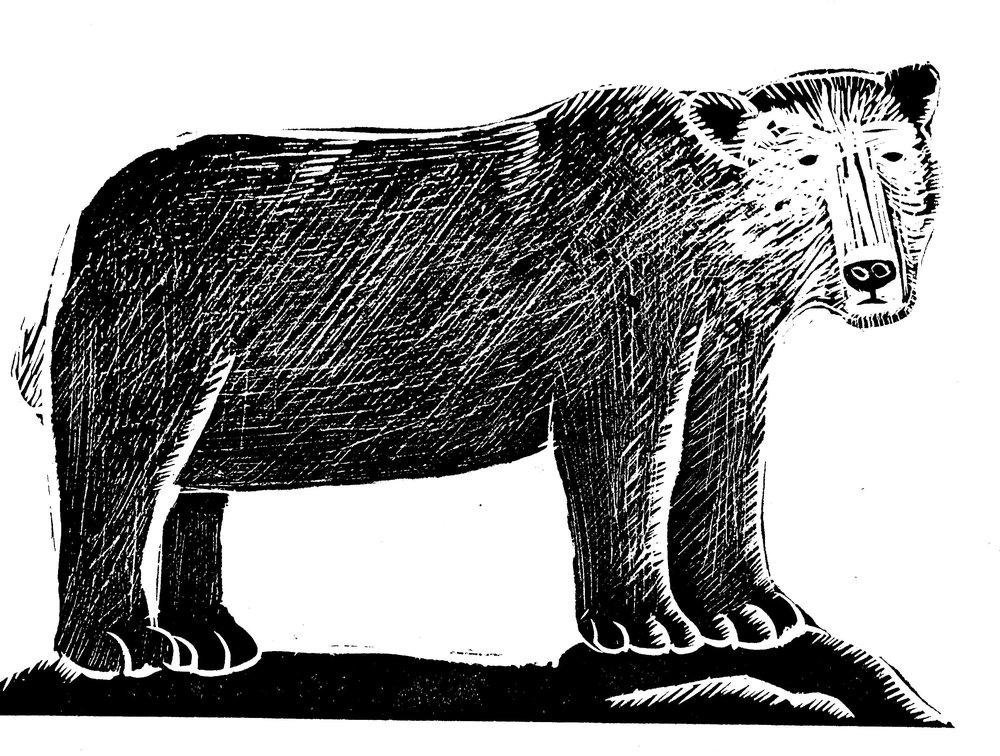 Bear  linocut  £66 (unframed)