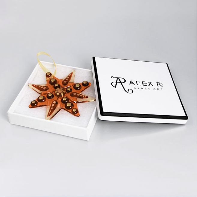 Boxed Glass Star  glass  10 x 10 cm  £16