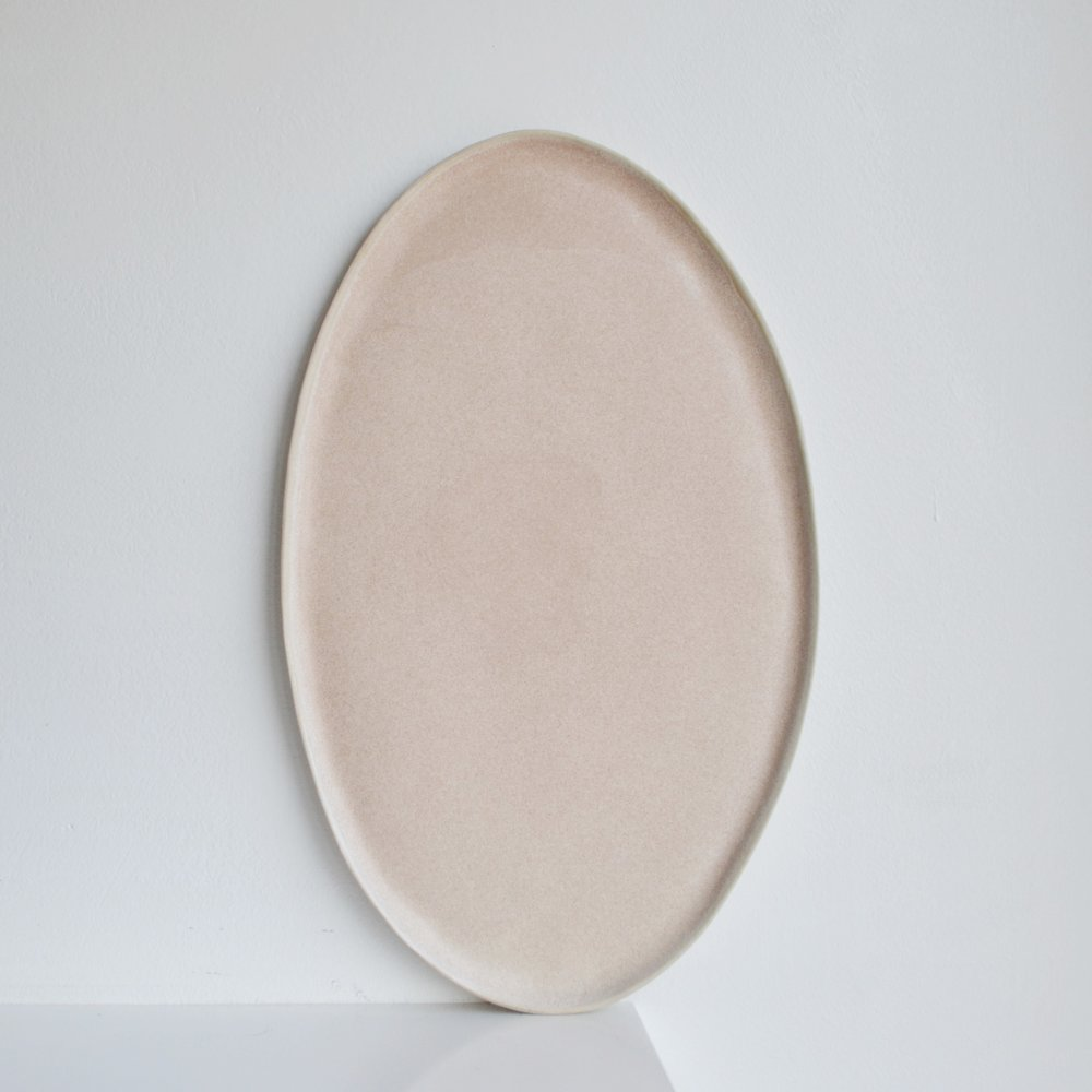 Large Pearl Oval Platter  ceramic  33 x 20 cm approx.   £65