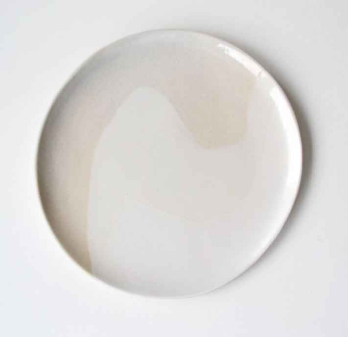 Large Pearl Glacier Plate  ceramic  3 x 25 cm approx.  £48