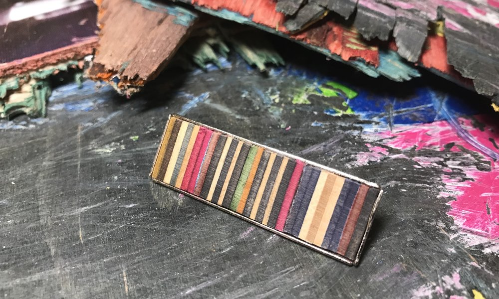 Hair Barrette  Recycled Skateboard