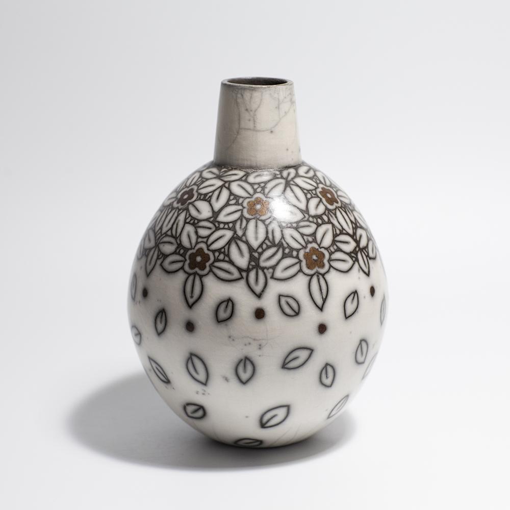 Large Bottle  raku ceramic  19 x 11 cm  £175
