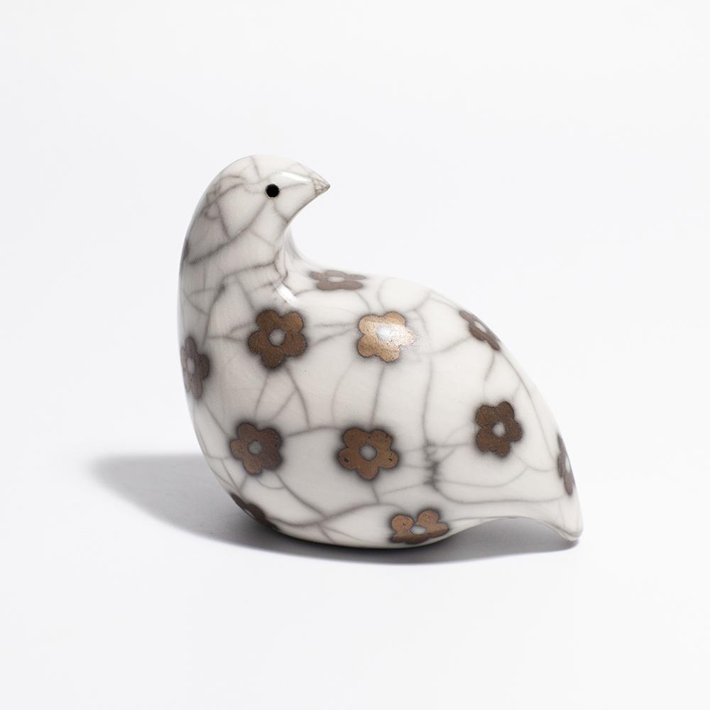 Game Bird  raku ceramic  8.5 x 10 cm