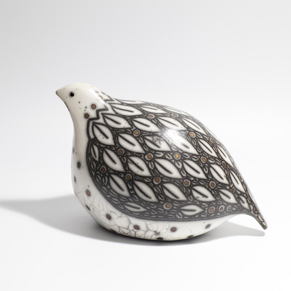 Large Game Bird  raku ceramic  14 x 22.5