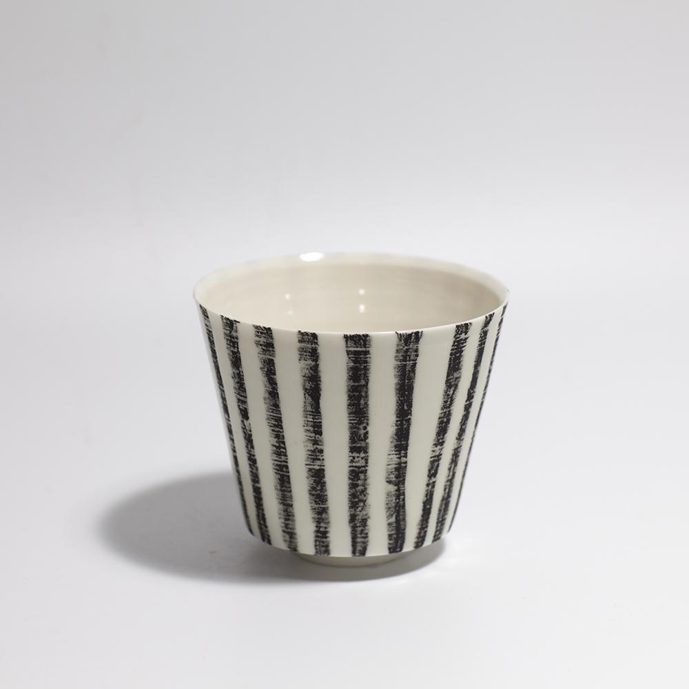 Monochrome Plant Pot  Ceramic  9 x 9.5 x 9.5cm  £40