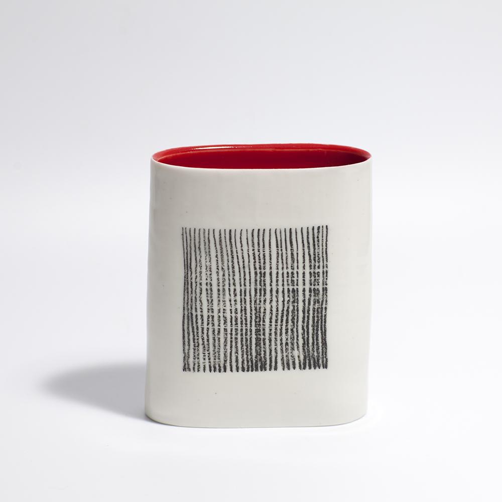 Monochrome Oval Form  Ceramic  12 x 10 x 3.5cm  £90