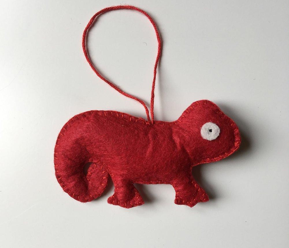 Chameleon Ornament  Felt  £6