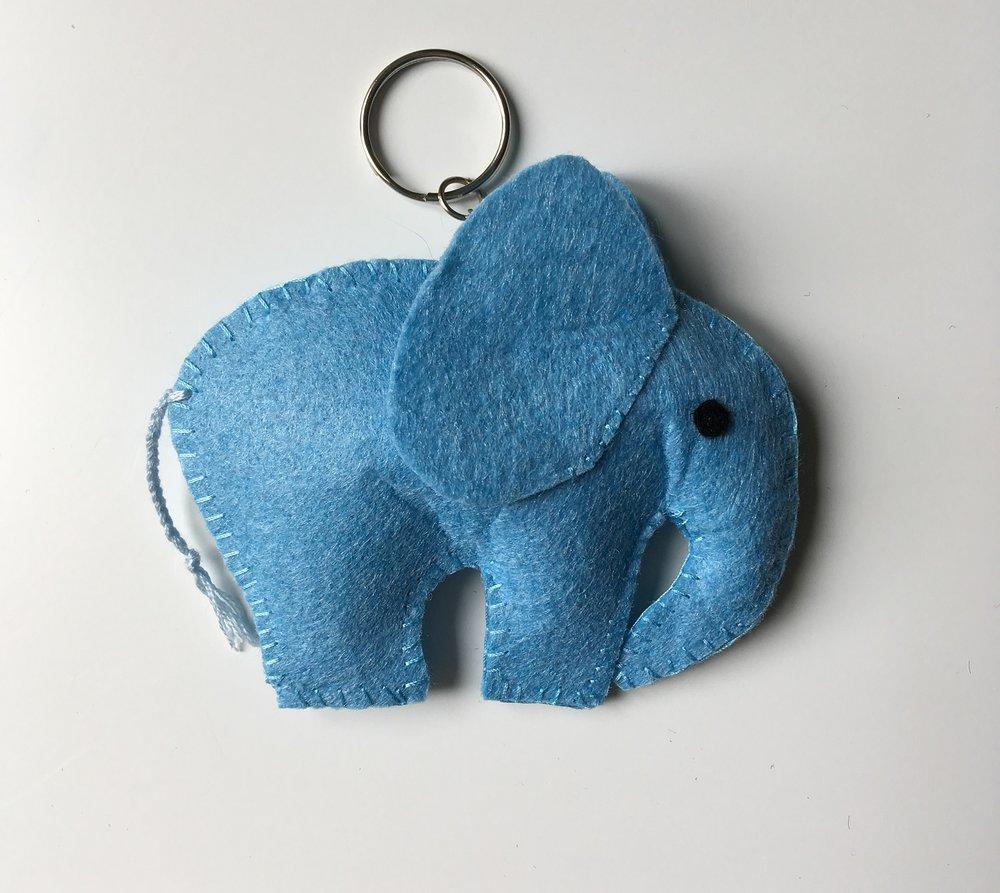 Elephant Keyring  Felt  £6