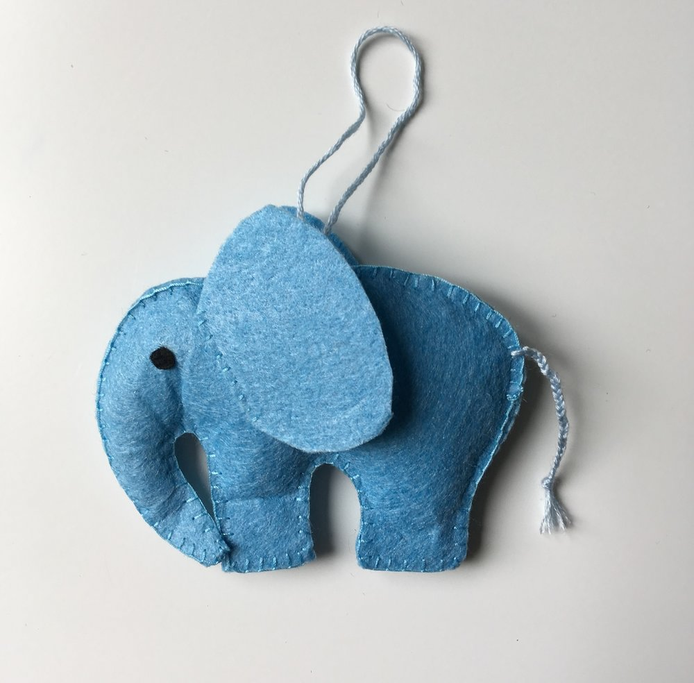 Elephant Ornament  Felt  £6