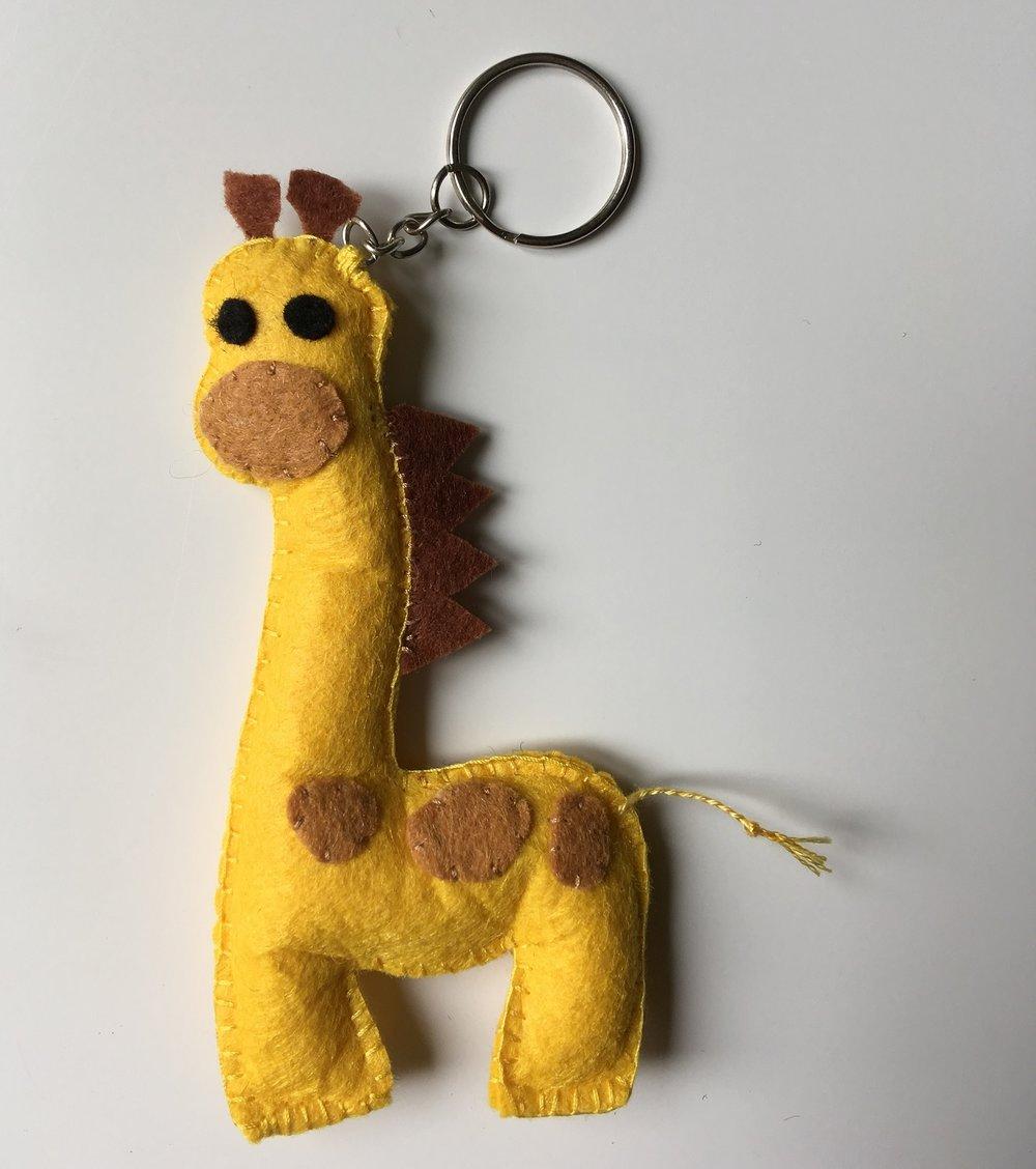 Giraffe Keyring  Felt  £6