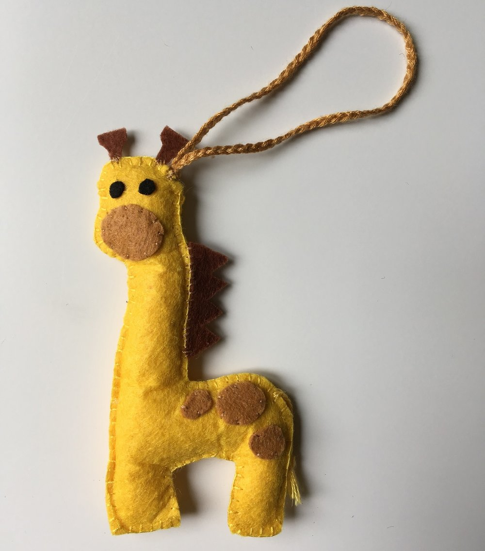 Giraffe Ornament  Felt  £6