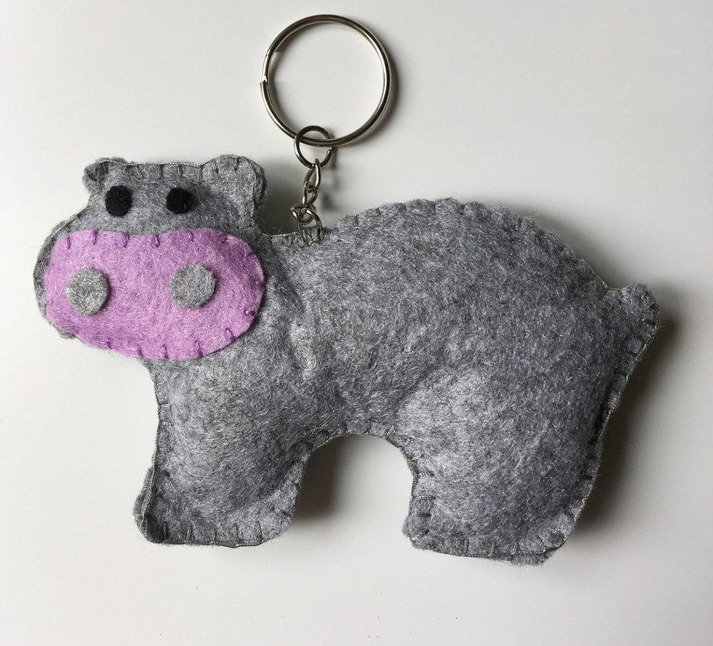 Hippo Keyring  Felt  £6