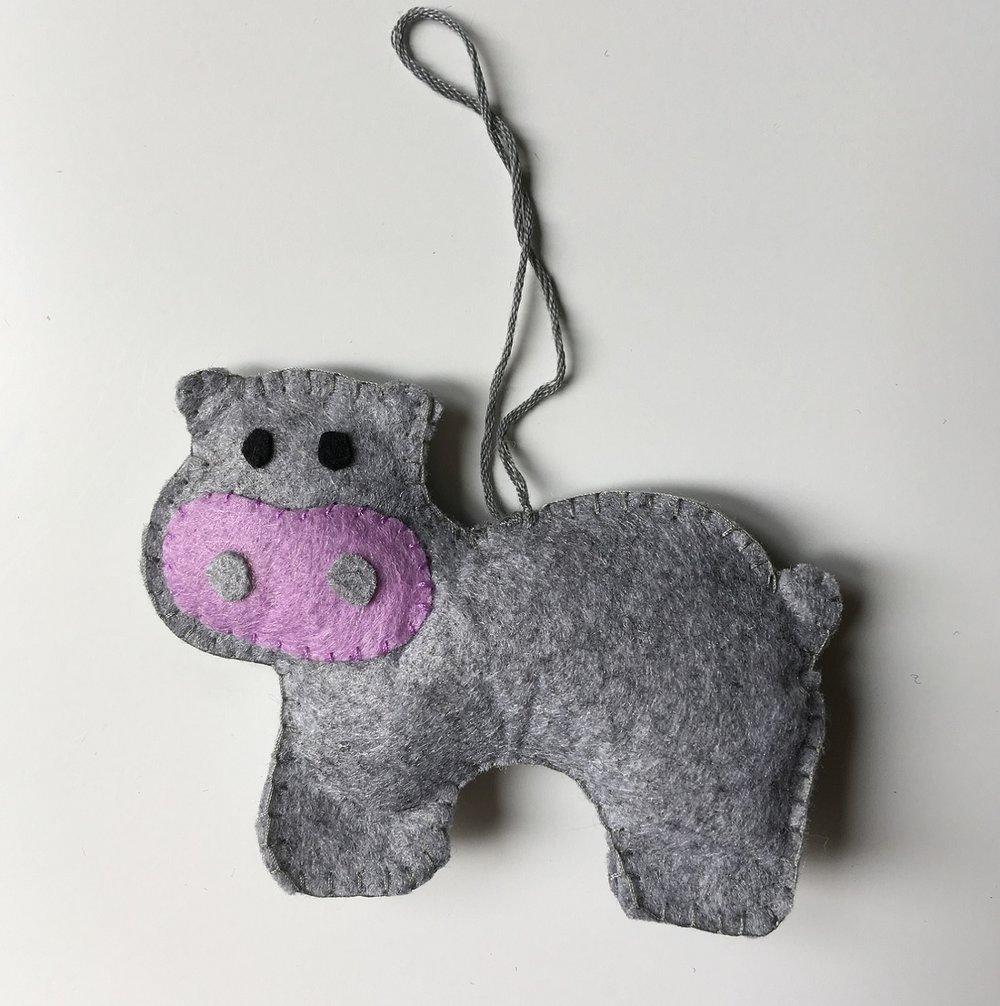 Hippo Ornament  Felt  £6