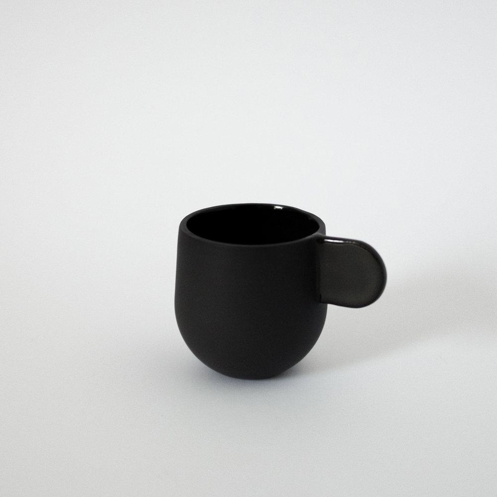 Espresso Cup Black  Porcelain  6 x 6 x 8.5 cm  £30