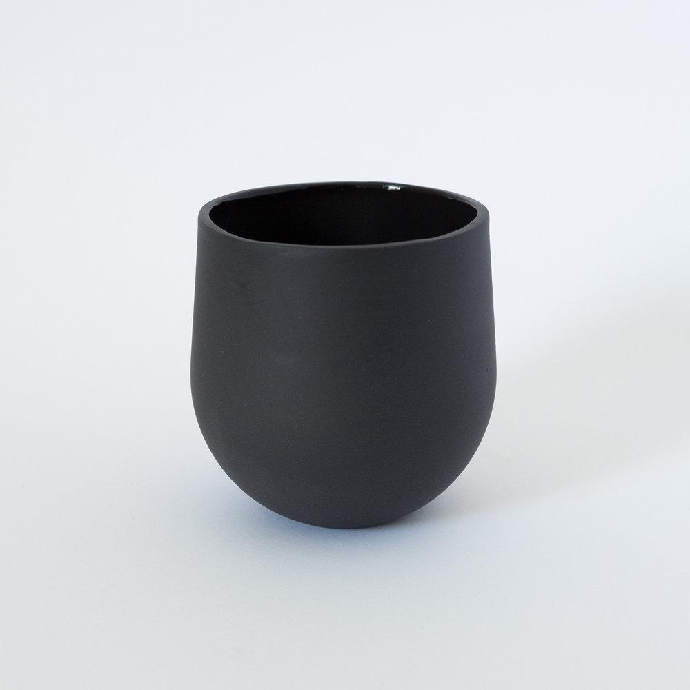 Tumbler Black  Porcelain  8.5 x 8 x 8 cm  £30