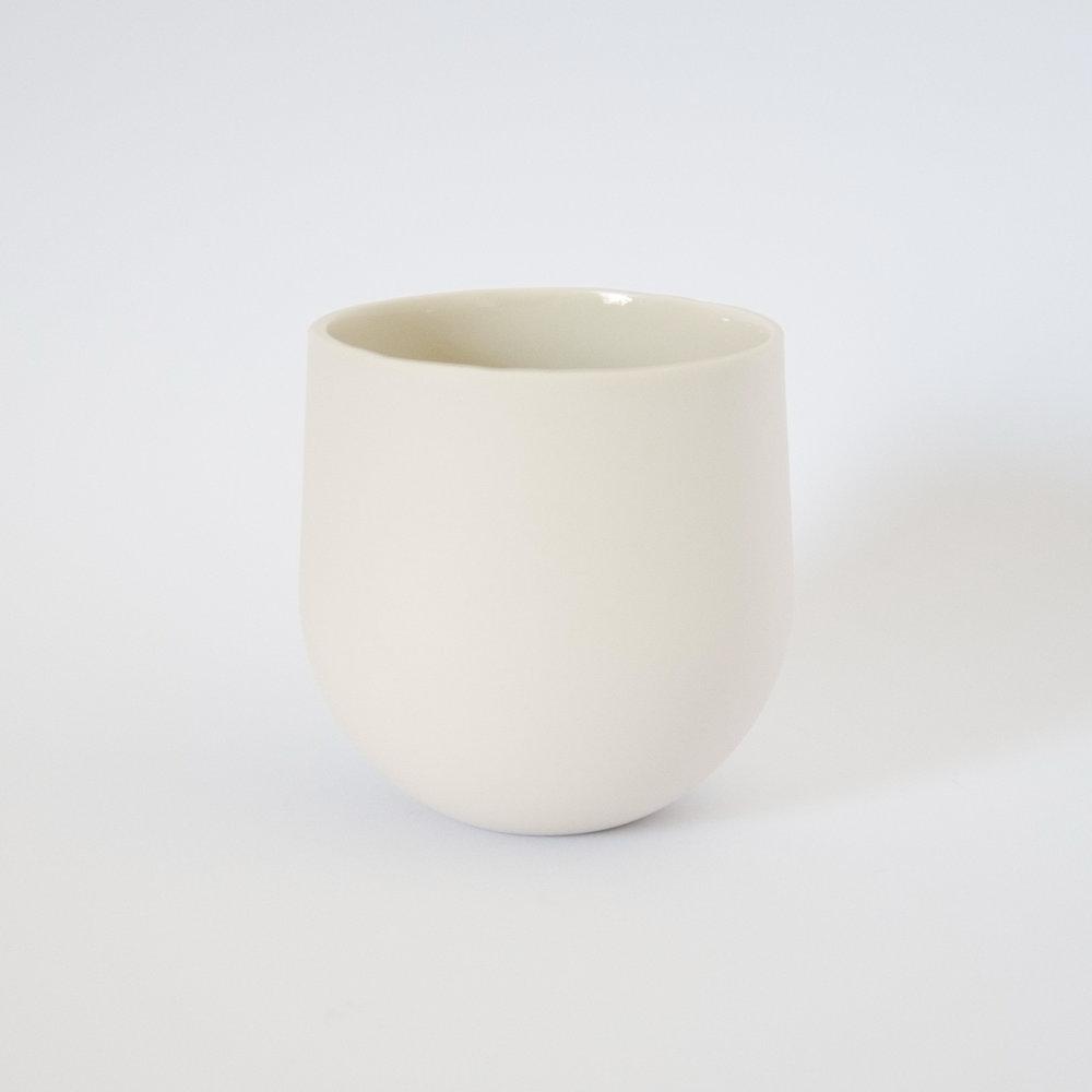 Tumbler White  Porcelain  8.5 x 8 x 8 cm  £30