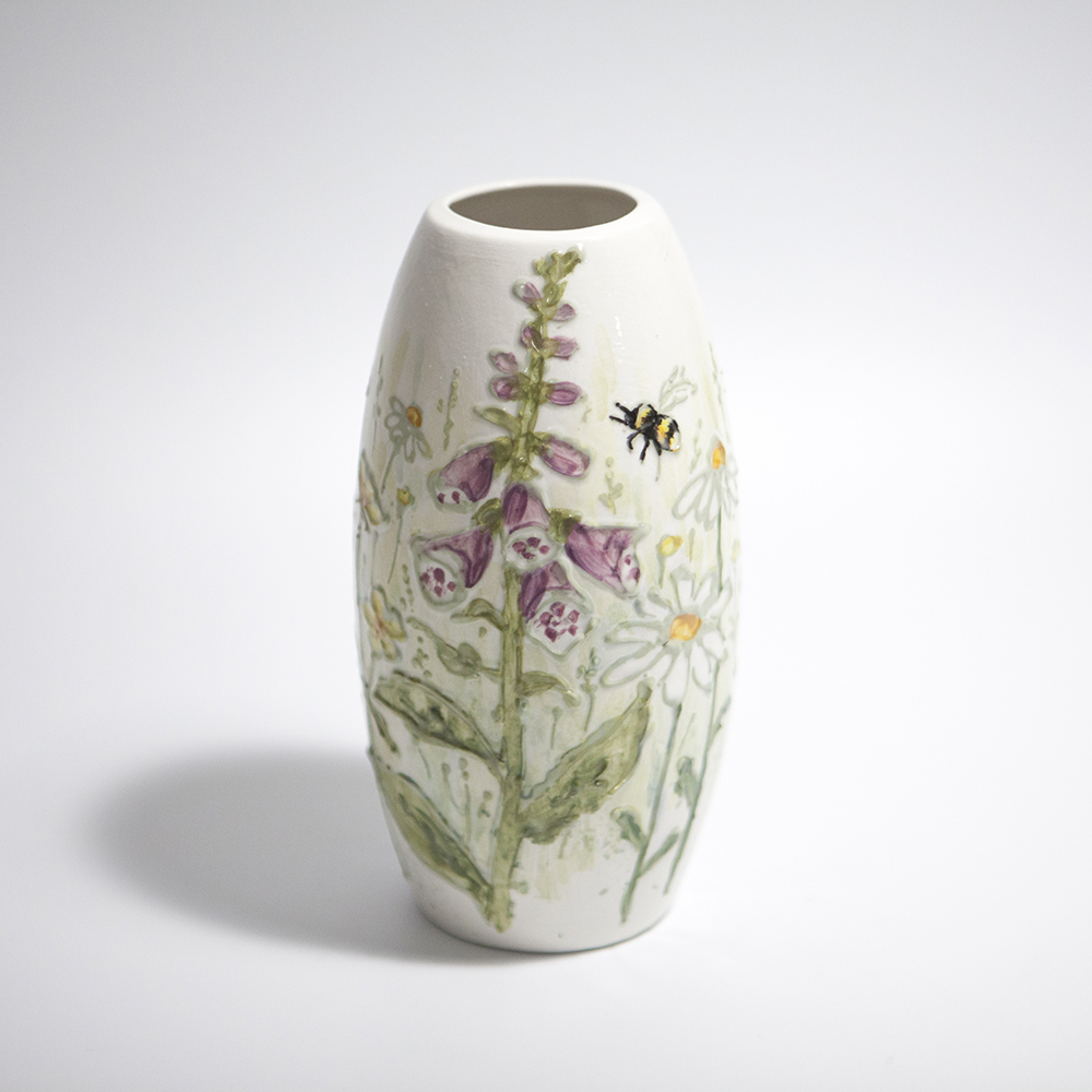 Slim Vase  ceramic  18 x 9 x 9 cm  £41