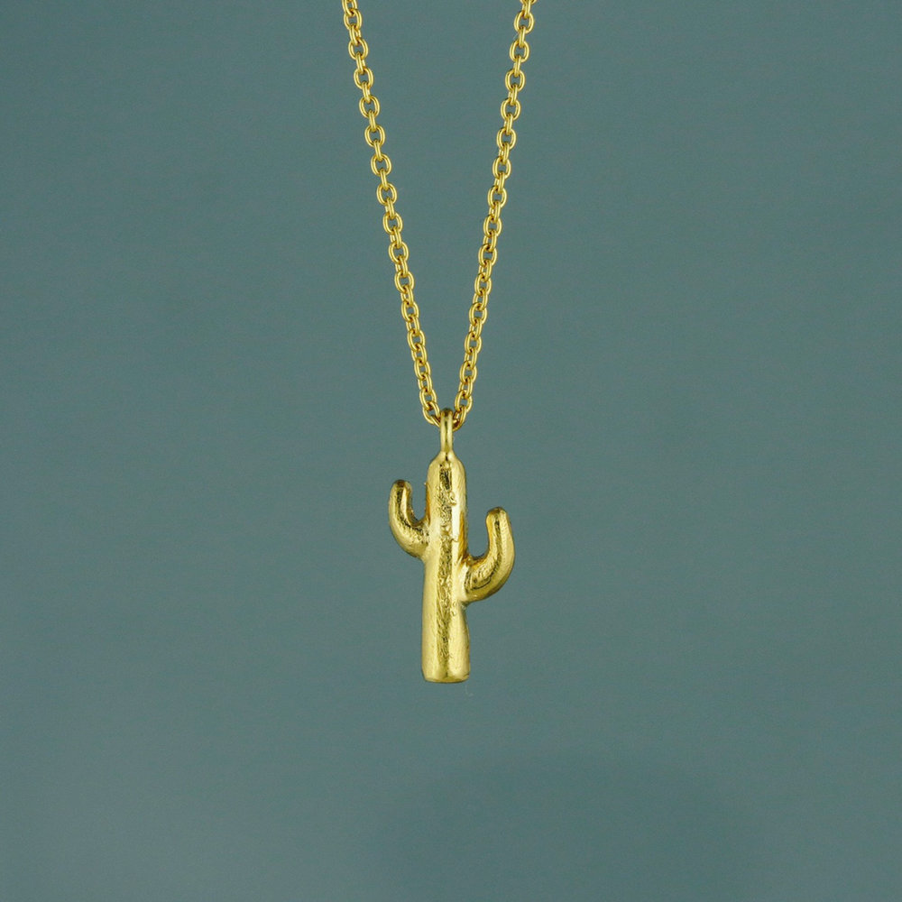 Cactus Pendant Silver and/or gold vermeil  £55